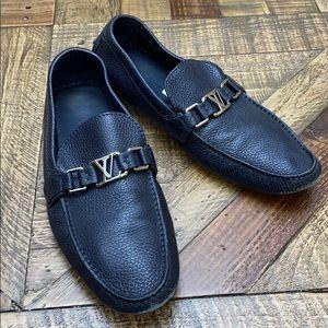 Louis Vuitton men's blue loafers size 8